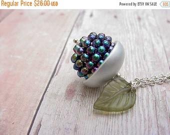 Winterberry Acorn Pendant Necklace