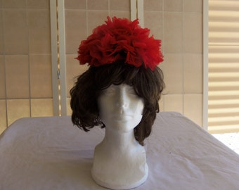 Vintage d. charles Women's Red Poppy Hat