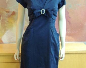 1950s Black Wiggle Dress with Jacket Size S