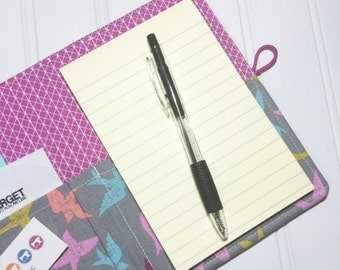 SUMMER SALE - List taker Mini Shopper - Notepad holder  - Birds