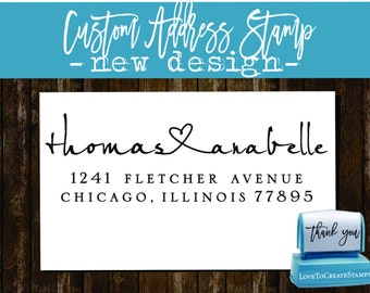 Custom ADDRESS STAMP  - Personalized Self Inking stamp - Style 9013R
