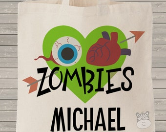 Halloween bag trick or treat zombies bag perfect to use as a Halloween bag to collect all the candy MBAG1-008
