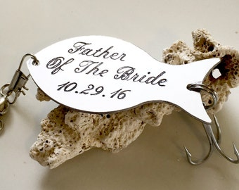 FATHER Of The BRIDE Gift, Personalized Fishing Lure, Gift For Dad, Fishing Lure Keychain, Gift For Fisherman, Fishing Gifts, Custom Lure