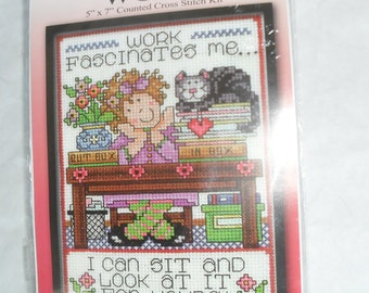 Counted CrossStitch Stitchery Embroidery Stitch Kit New