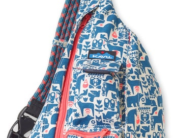 Monogrammed Kavu Rope Bags - Fable - Great gift for College, Teens, Women, Outdoors Satchel Crossbody Tote