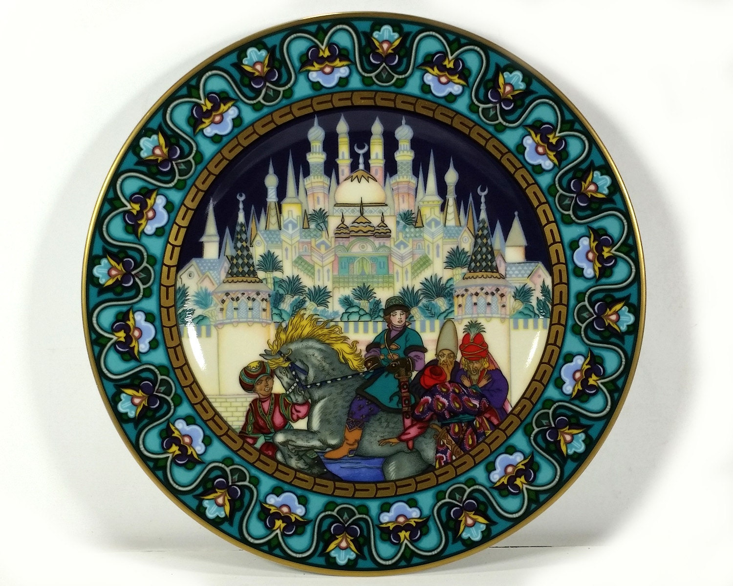 Vintage Russian Fairy Tales Plate In Search Of The