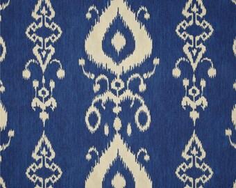 "Bohemian Drapes, Lake Blue Curtain Panels, Moroccan Curtains, Boho Design, Ikat Window Curtains, Rod-Pocket Curtains, One Pair 50""W"