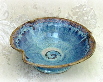 Second- Decorative Blue Bowl with Altered Rim