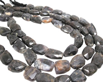 Amethyst Sage Agate, Amethyst Sage Beads, Purple Amethyst Sage, Faceted Nuggets, SKU 4326A
