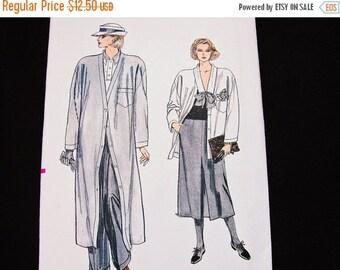 on SALE 80s Pattern Womens Duster Coat, Jacket, Skirt, Cuffed Pants Vogue Pattern Vintage Sewing Pattern Misses size 6 8 10 UNCUT