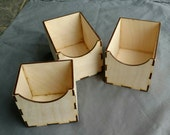 Three Storage Boxes for 3x5 Sandpaper Letters and 3x5 Numbers 0-10 set