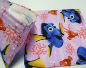 2pc Reusable Sandwich and Snack Bag Finding Dory in Lavender