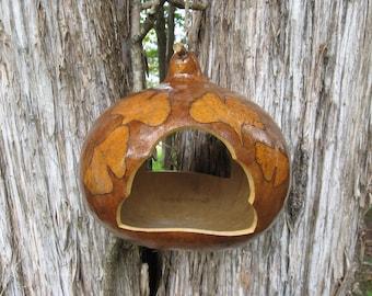 Fall Ginkgo Leaf Bird Feeder