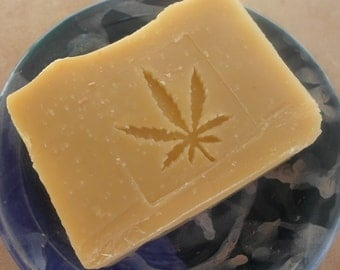 Hemp Oil Soap with Organic Cocoa Butter, Lavender, Patchouli and Peppermint essential oils - Vegan Soap