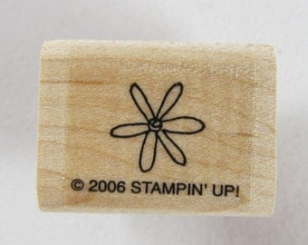 Stampin Up! - Flower Rubber Stamp #RS155