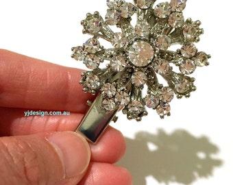 Gatsby Bridal Hair Clip, Art Deco Bridal Headpiece, Starburst Bridal Hair Jewelry, Swarovski Bridesmaid Hair Clip, Gift for Her, FLARE