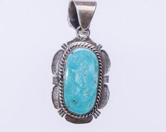 Navajo Turquoise Pendant - Bennie Ration