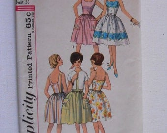 Vintage 60s Fitted Bodice Full Skirt Dress Jacket Pattern Simplicity 4930 Size 16 Bust 36 UNCUT