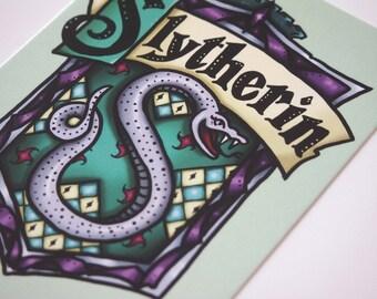 Slytherin House Shield - Harry Potter - Postcard