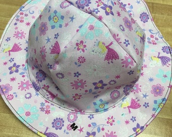 Reversible Tie Faries Sunhat in sizes newborn to adult