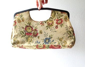 Large Tapestry Bag / 50s Purse / Oversized Purse