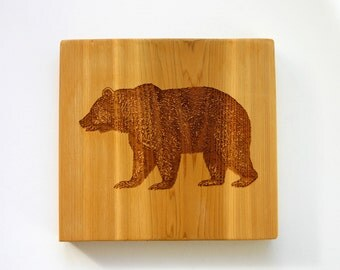 Bear Sign Engraved Wood Sign Rustic Bear Cabin Cottage Decor