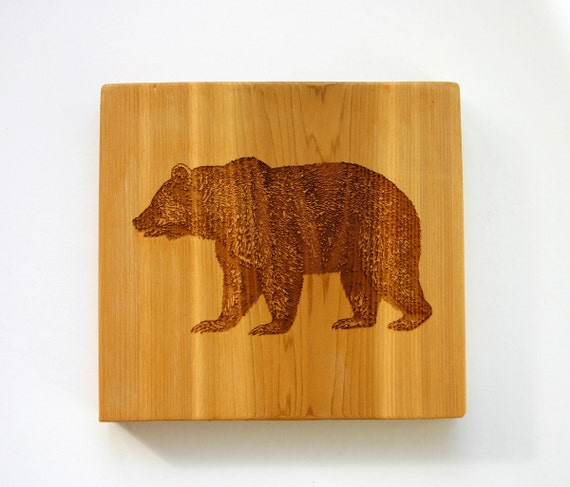Bear sign engraved wood sign rustic bear cabin cottage decor for Rustic bear home decor