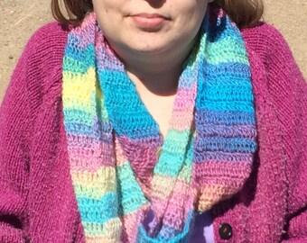 Rianbow infinity scarf
