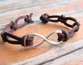 Leather Infinity Bracelet