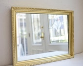 """Reserved for kimmayyamasaki *Wedding  October 29th* 18 x 22.5"""" Custom Welcome Sign: Upcycled Gold Ornate Mirror with nicks & 6 ft easel"""