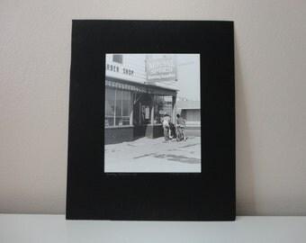 VINTAGE 1980s teenage boys black white PHOTOGRAPH