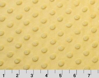 "Sale - Yellow Minky Dot - 34""x60"""