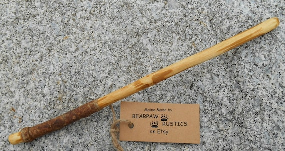 Ash Wood Wand ~ Rustic ash wood wand for wisdom balance ooak by bearpawrustics