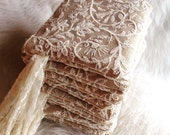 Set of 6 Wristlets, Burlap and Lace Wedding Clutches, Bridesmaid Gifts, Bridesmaid Purses, Ivory Wedding Bags, Rustic Wedding, Maid of Honor