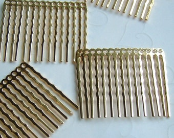 Gold Plated 14 Holes Hair Comb - 44 x 36 mm, Buy More Save More