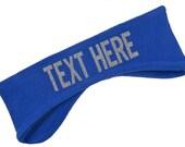 Design Your Own Custom Warm Polar Fleece Headband - Glitter Text!