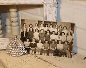 5x7 Black and White Girls Class Photo