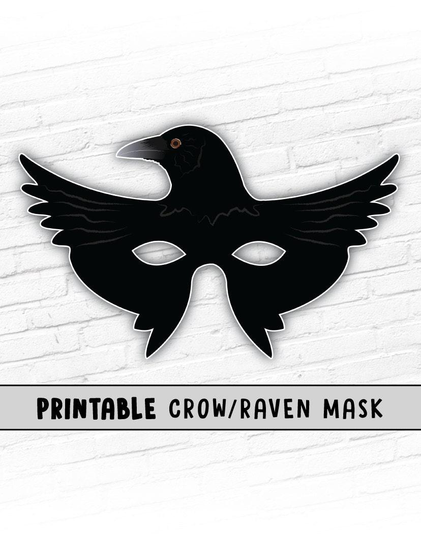 Raven Mask Printable Halloween Mask Crow Mask Kids Party