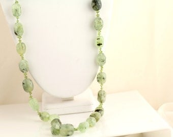 Prehnite Necklace. Listing 263672554
