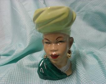 Vintage Woman's Head Vase