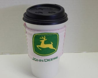 Reusable Drink Wrap Pink John Deere