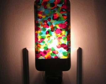 Night Light - Rainbow Colored Kitchen or Bathroom Night Light, Handmade, Home Decor, Lamp, Lighting, Unique Gift Idea, Housewarming