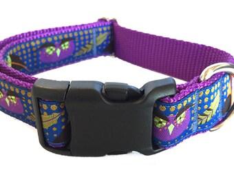 Whimsical Owl Dog Collar, Martingale, Leash or Harness