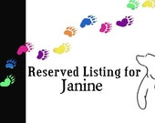 Reserved custom listing for Janine