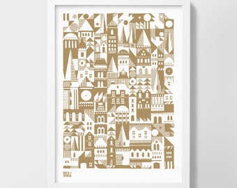 Coming Home - decorative screen print