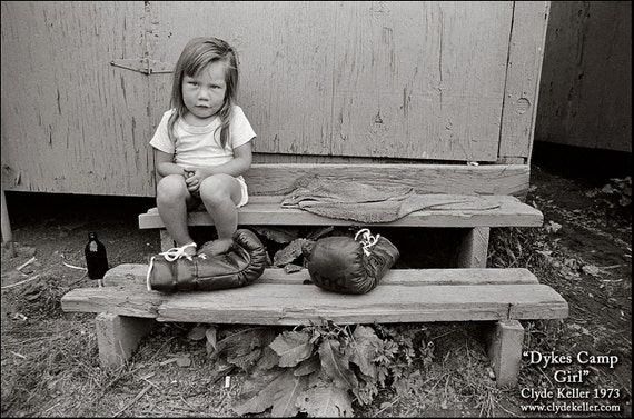 MIGRANT CHILD PORTRAIT, Ron's Lower, Clyde Keller photo, 1973, Fine Art Print, Black and White, Signed