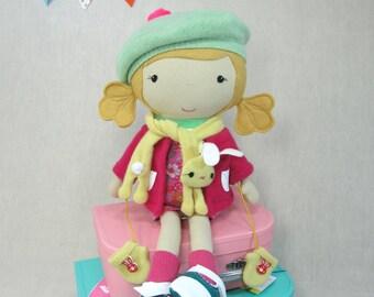 Studio Doll Large - Emma. Handmade, Doll, Eco Friendly, Bunny, Plush, Toy, Children, Gift
