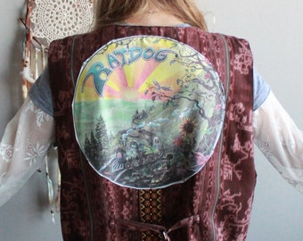 Earthy Vibes Grateful Bob Weir and RatDog Grateful Dead Woven Ethnic Upcycled Embroidered Hippie Bohemian Festival Size XL