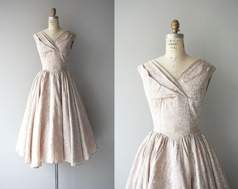 Pale Quartz dress | brocade 50s dress | vintage 50s party dress
