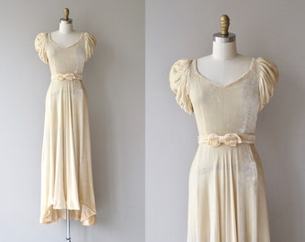Latendresse dress | vintage 1930s wedding dress | silk velvet 30s wedding gown